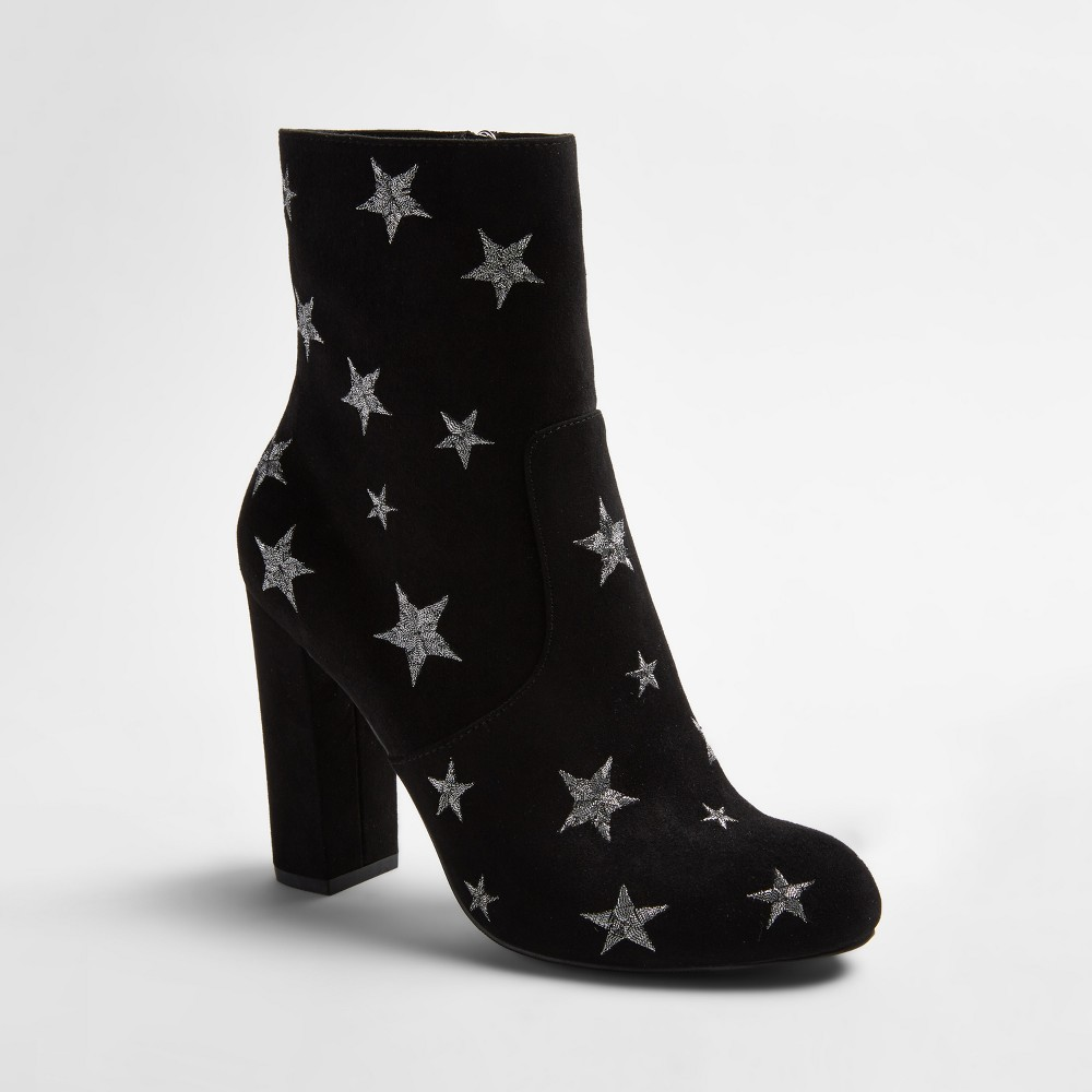 Womens Corrine Embroidered Star Booties - Mossimo Supply Co. Black 9