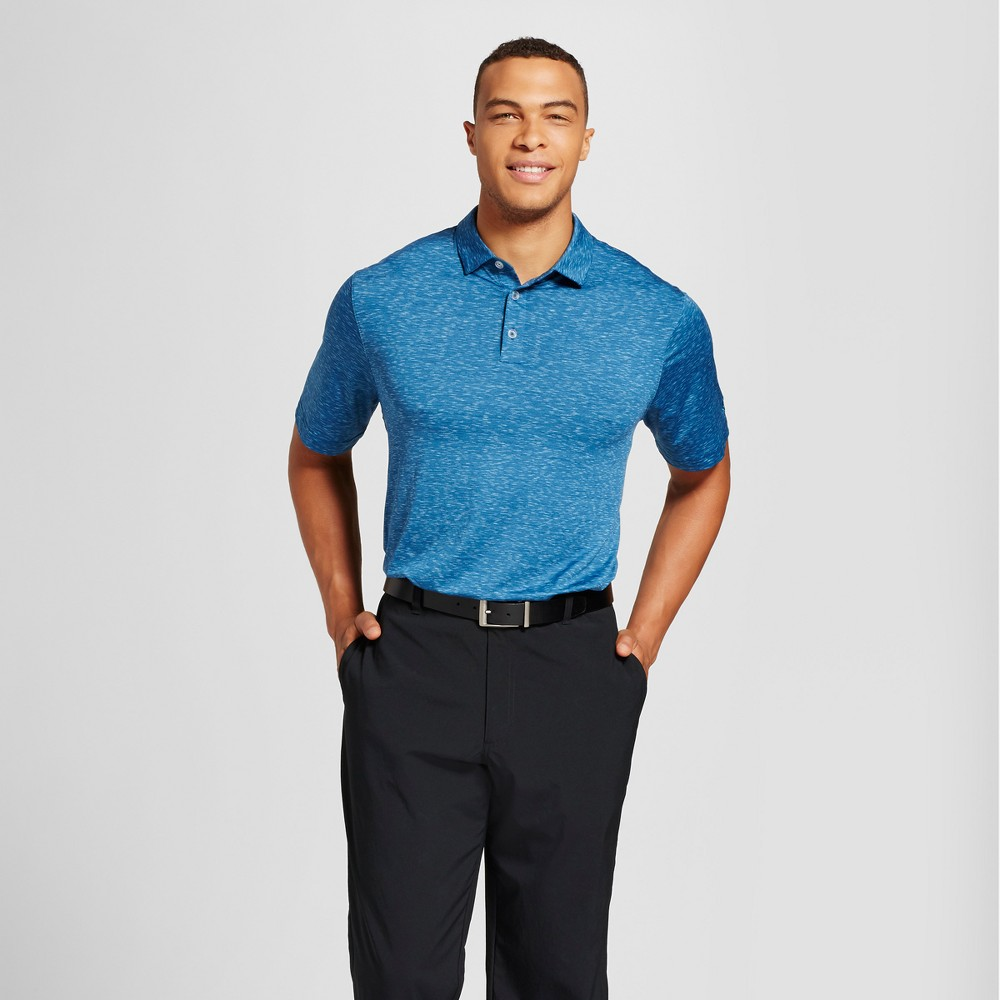 Mens Big Space Dye Golf Polo - C9 Champion Blue 5XB
