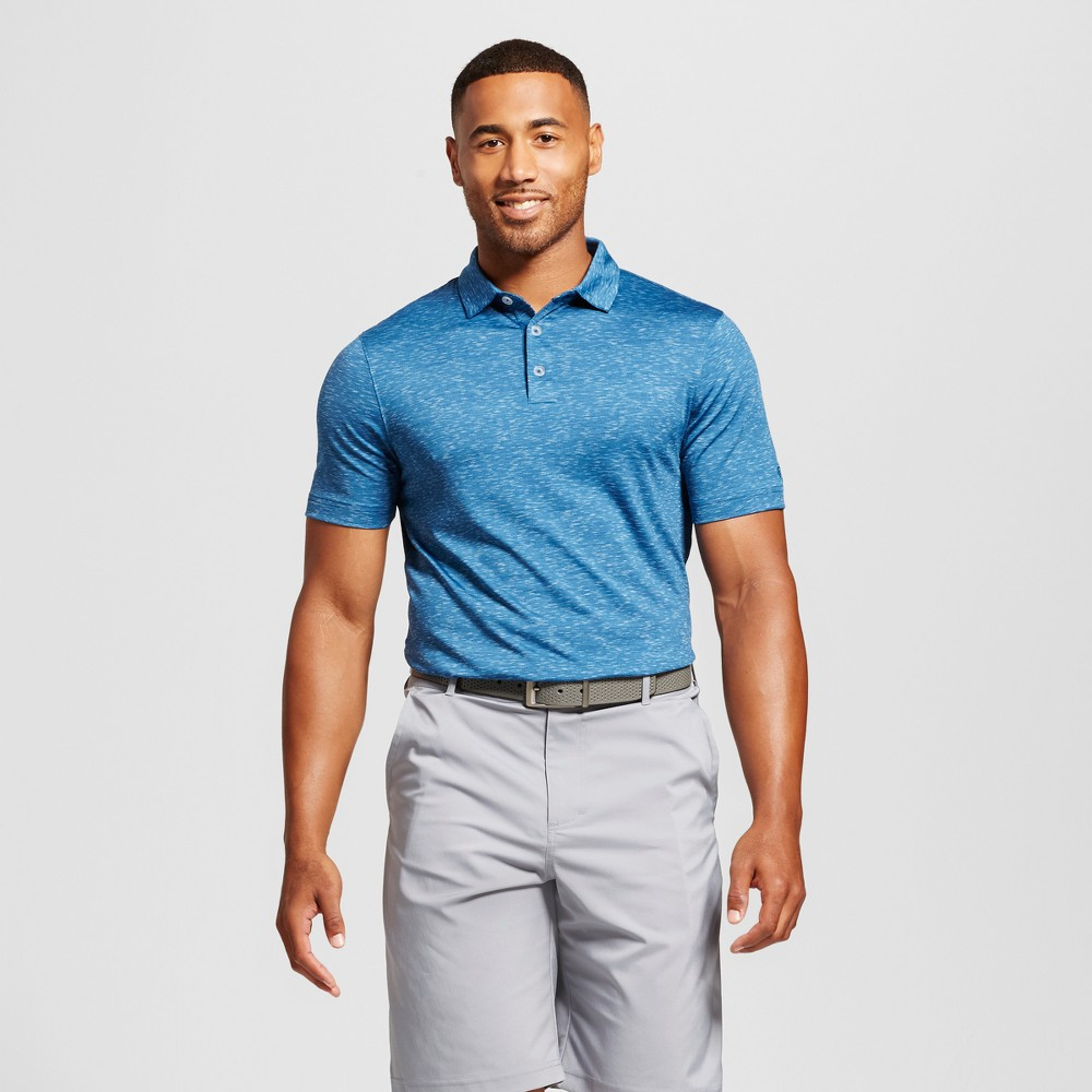 Mens Space Dye Golf Polo - C9 Champion Blue XL