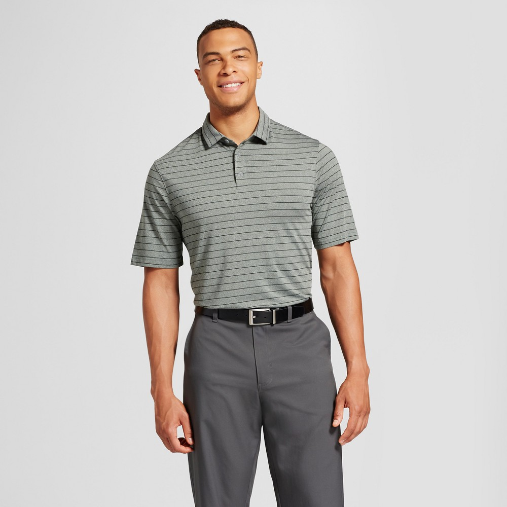 Mens Big & Tall Stripe Golf Polo - C9 Champion - Green LT, Forest Grove