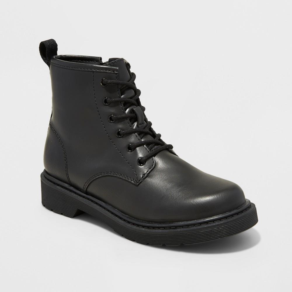 Boys Conrad Combat Boots - Art Class Black 4