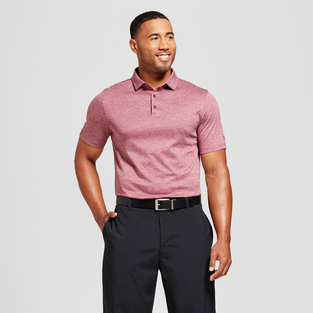 Mens Texture Golf Polo - C9 Champion Berry (Pink) S