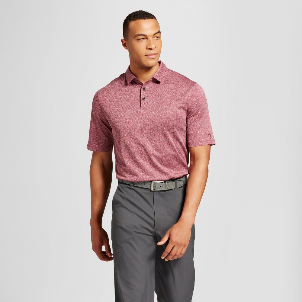 Mens Tall Texture Golf Polo - C9 Champion Berry (Pink) Xlt