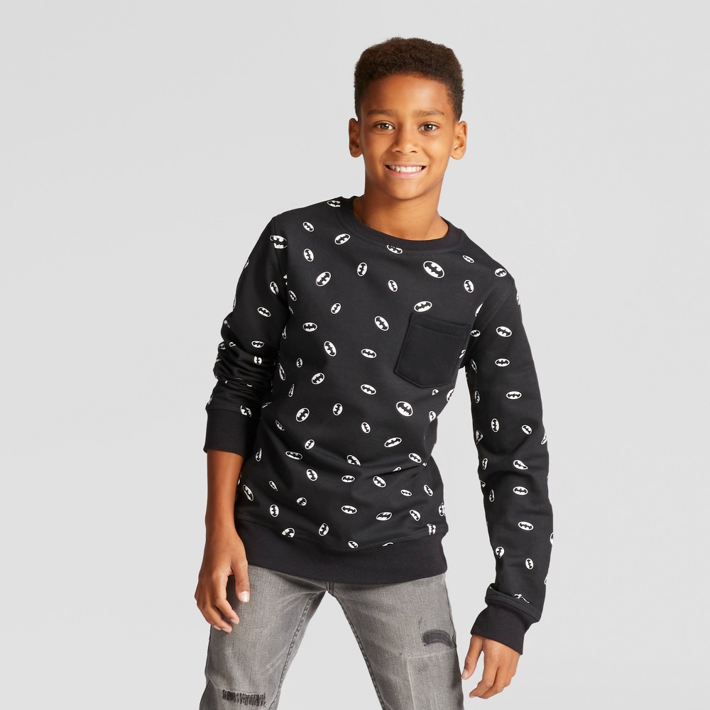 Boys Batman Fleece Sweatshirt Black XS