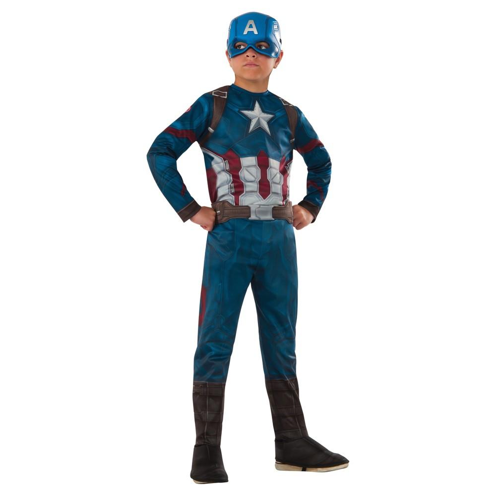 Marvel Captain America Boys Costume L (10-12), Multicolored