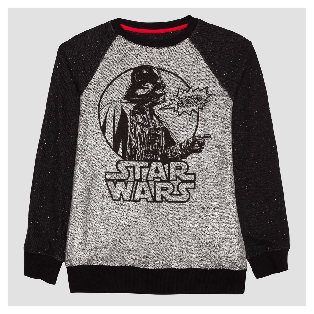 Boys' Star Wars Darth Vader Fleece Sweatshirt Black/Silver S