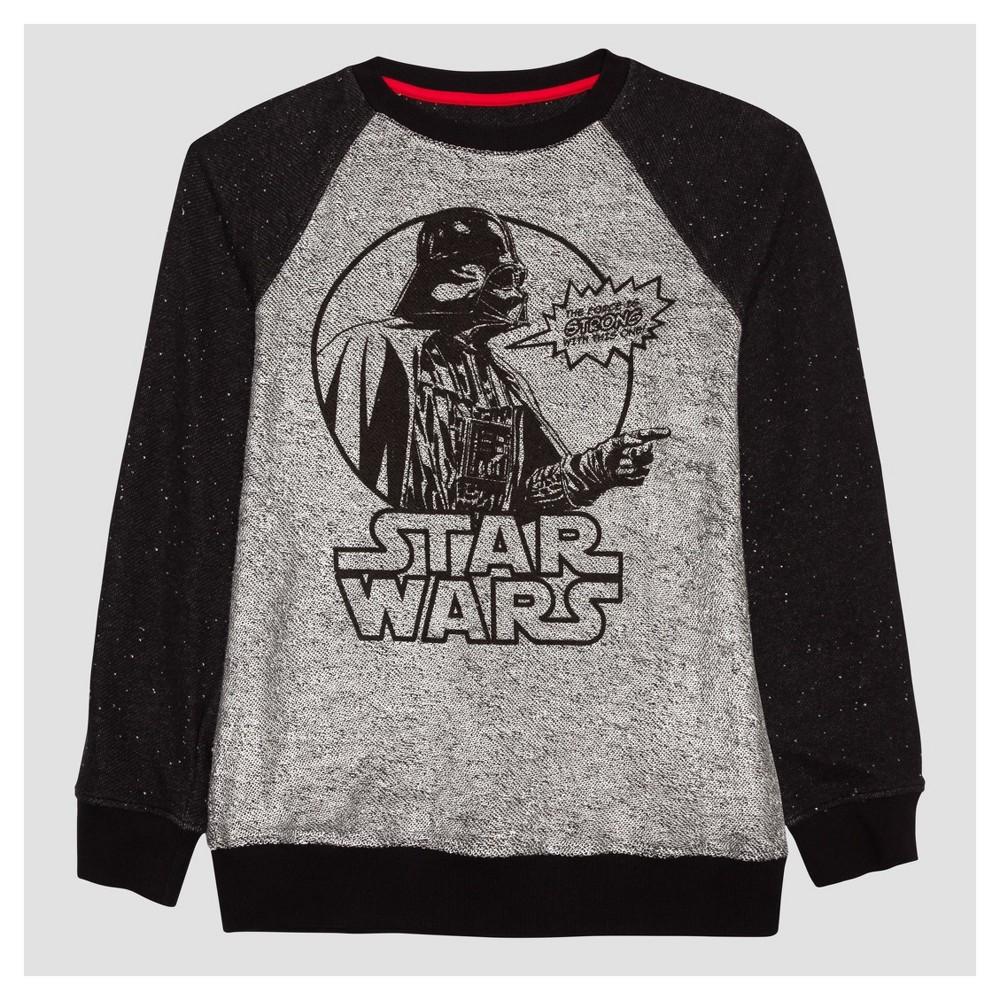 Boys Star Wars Darth Vader Fleece Sweatshirt Black/Silver S
