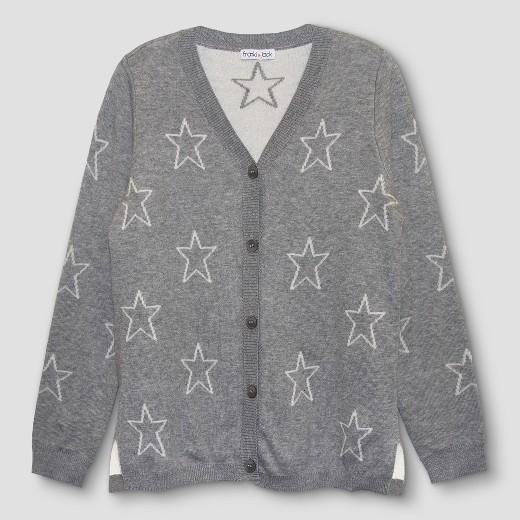 Girls' Franki & Jack Star Cardigan - Heather Gray : Target