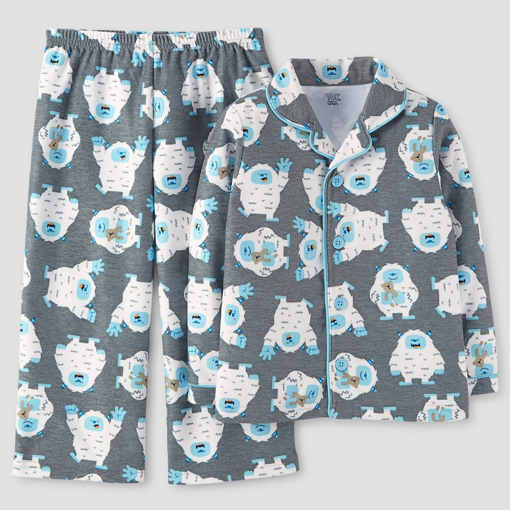 Toddler Boys Pajama Set - Just One You Made by Carters Gray 12M, Size: 12 M