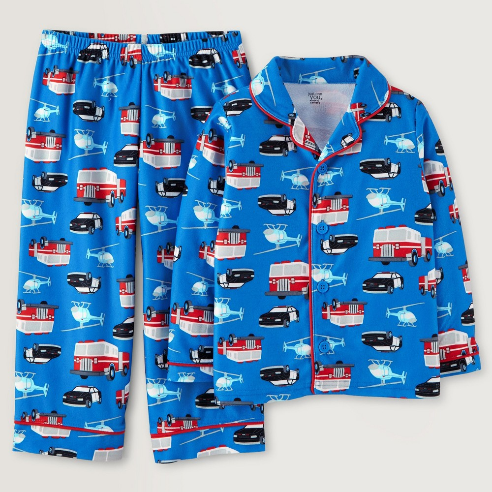 Toddler Boys Vehicles Pajama Set - Just One You Made by Carters Blue 3T