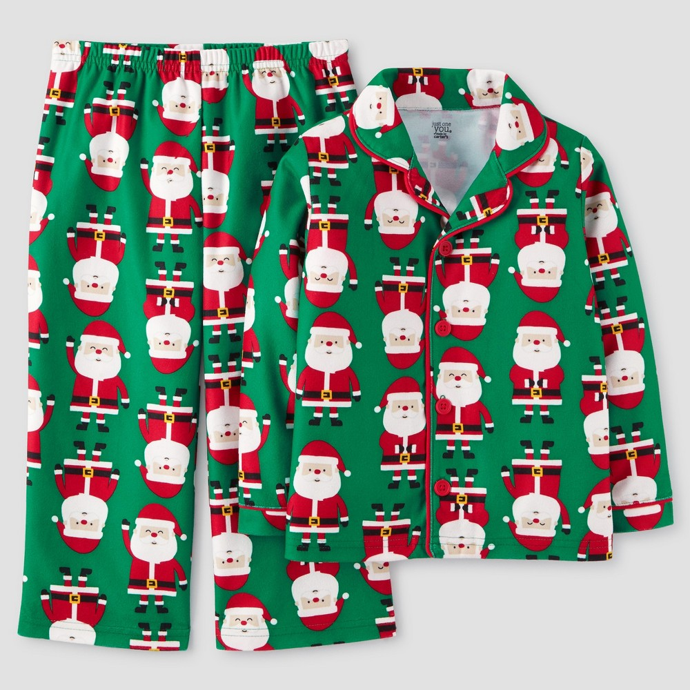 Toddler Boys Santas Pajama Set - Just One You Made by Carters Green 4T