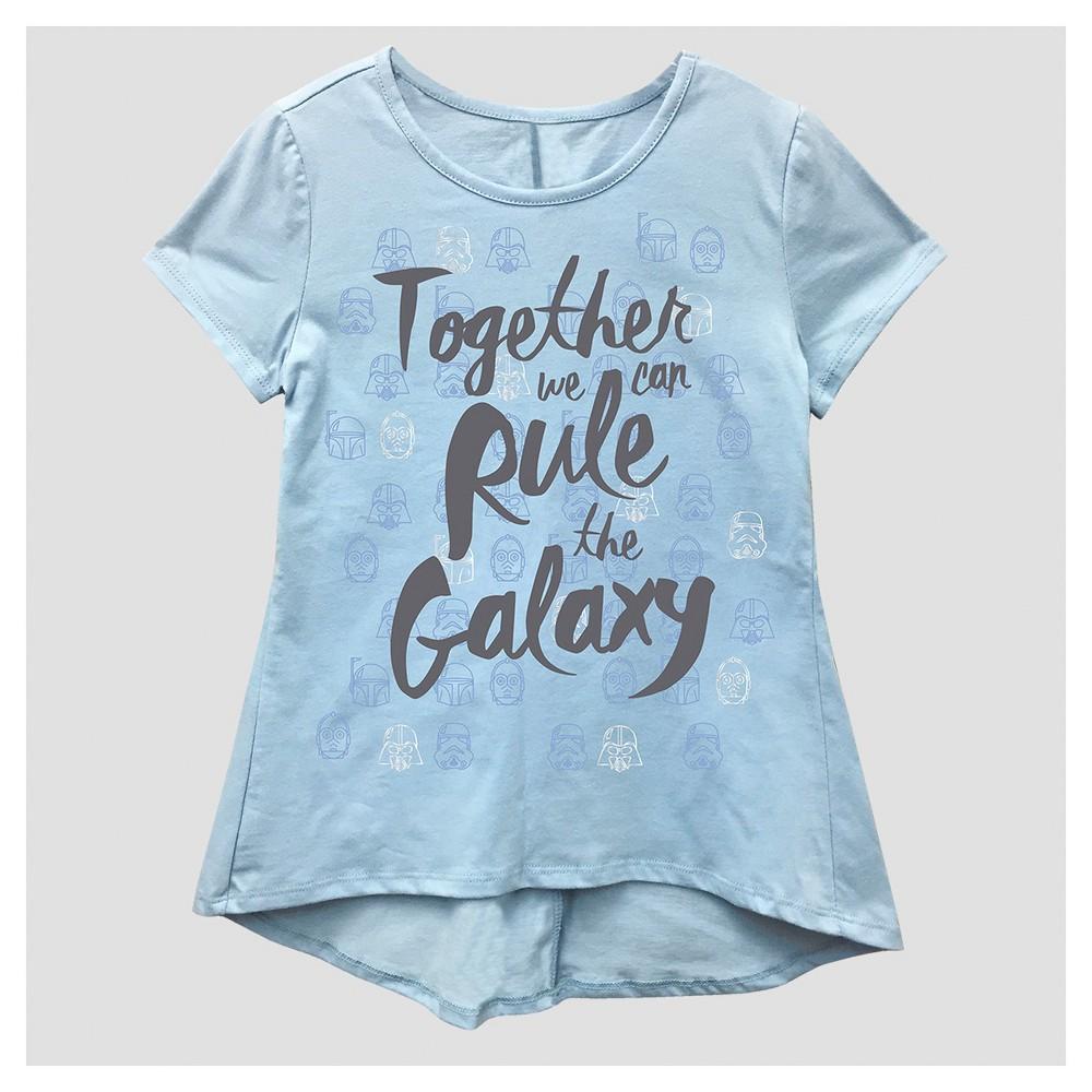 Girls Star Wars T-Shirt - Blue M (7-8), Size: M(7-8)