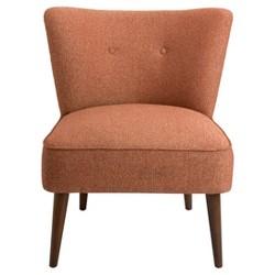 Chadwick Armless Accent Chair - Orange - Homepop