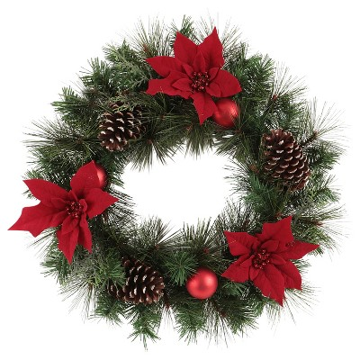 red christmas wreaths garlands target