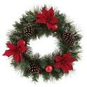 "Wondershop 24"" Unlit Artificial Pine Christmas Wreath"