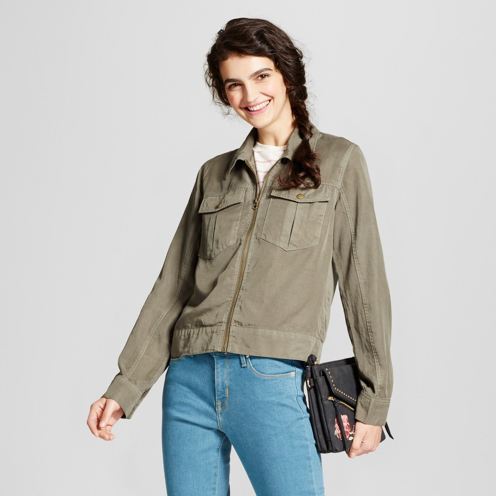 Womens Military Jacket - Mossimo Supply Co. Olive L, Green