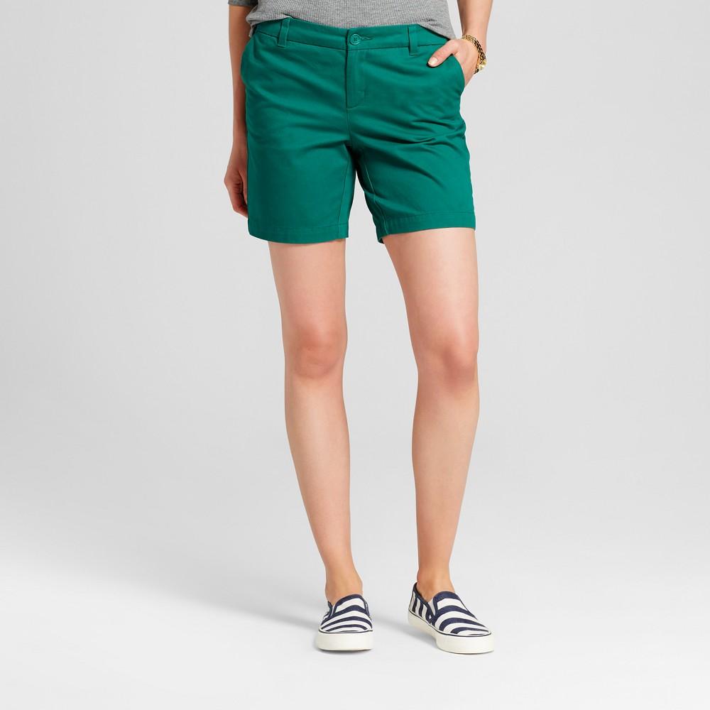 Womens 7 Chino Shorts - Merona Green Reflection 8