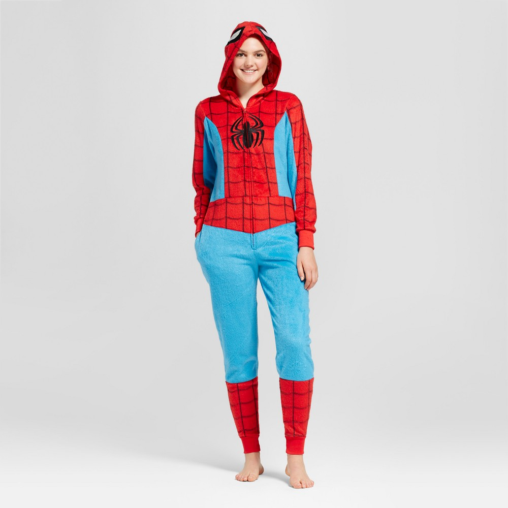 Womens Spider-Man Union Suit - Red XS
