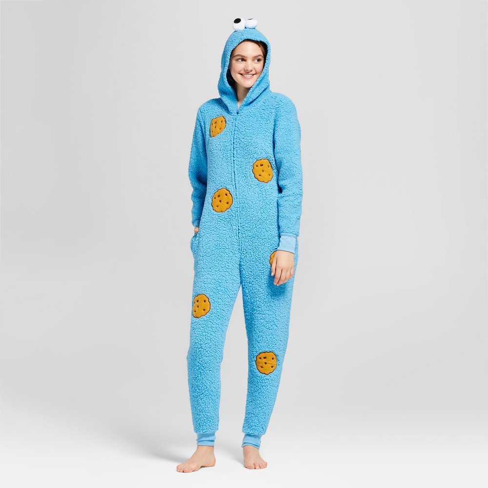 Womens Sesame Street Cookie Monster Union Suit - Blue XS