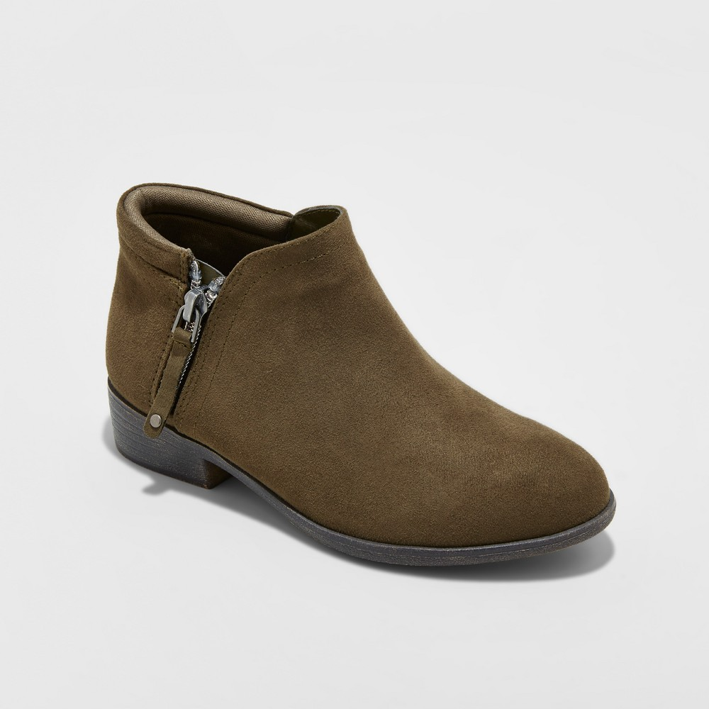 Girls Samara Booties Cat & Jack Green Olive 3