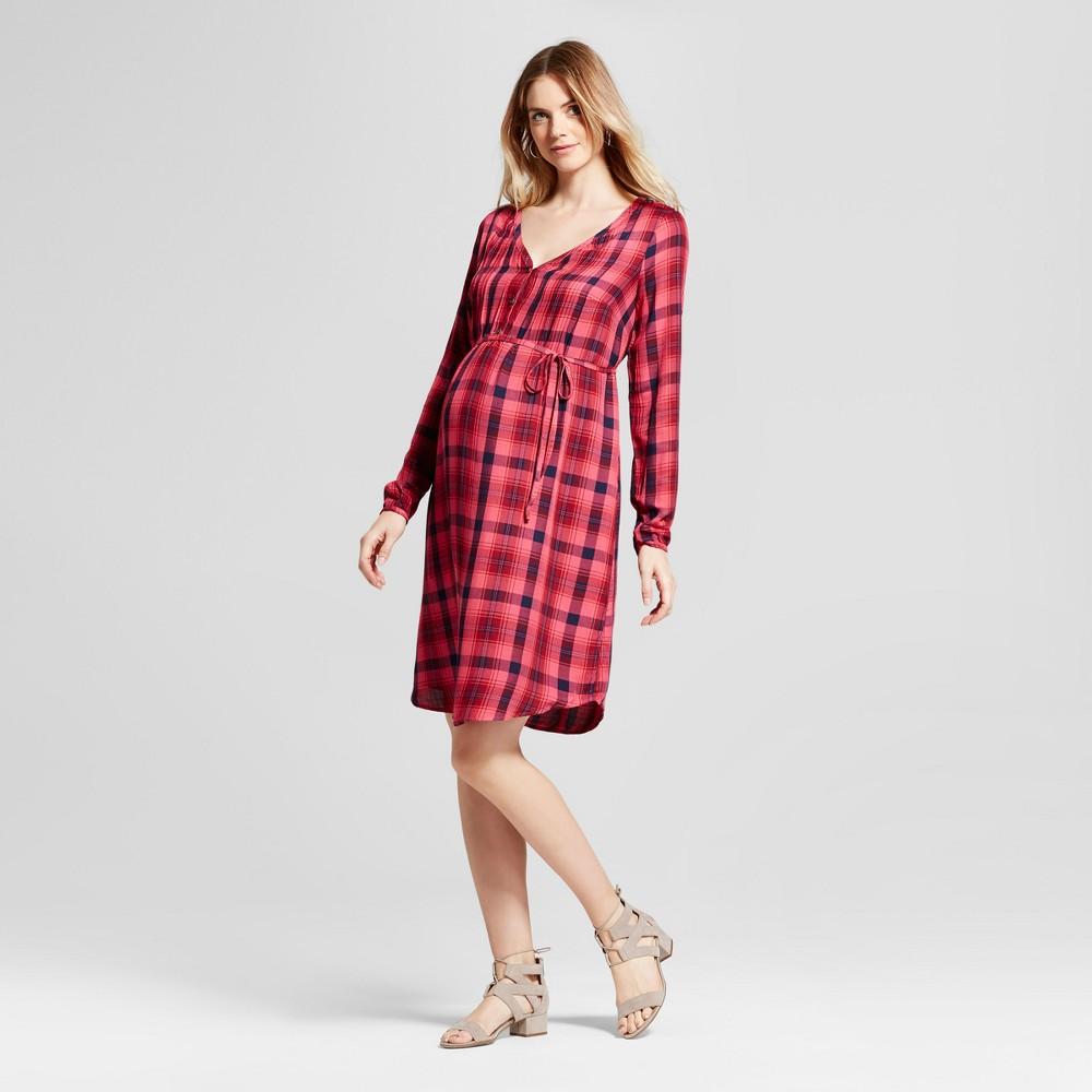 Maternity Pintuck Shirt Dress - Isabel Maternity by Ingrid & Isabel Pink XL, Infant Girls