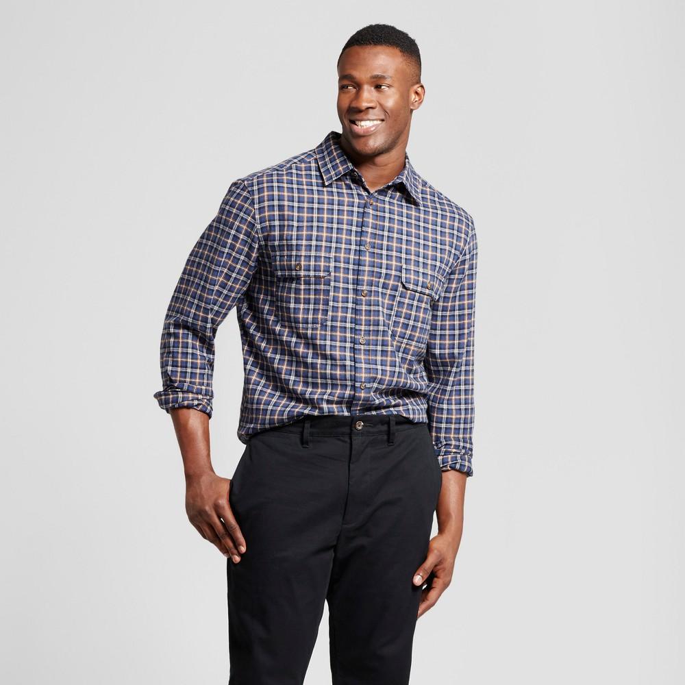 Mens Big & Tall Standard Fit Plaid Flannel Long Sleeve Shirt - Goodfellow & Co Blue 5XBT