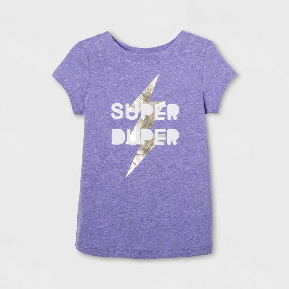 Toddler Girls Cap Sleeve Graphic T-Shirt - Cat & Jack Purple 4T