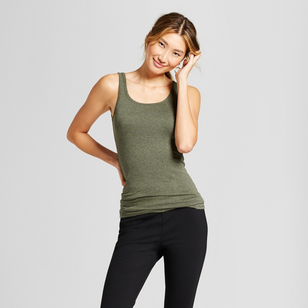 Womens Heathered Any Day Tank - A New Day Moss (Green) M