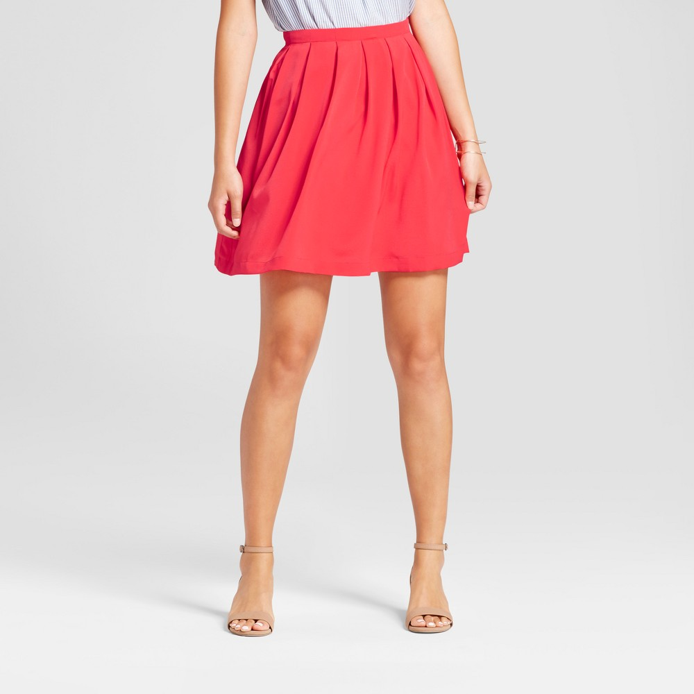 Womens Solid Pleated A-line Skirt - Isani for Target Poppy XL, Red