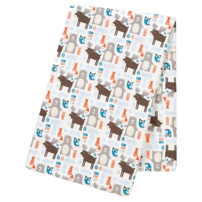 Trend Lab® Jumbo Deluxe Flannel Swaddle Blanket - Scandi Forest