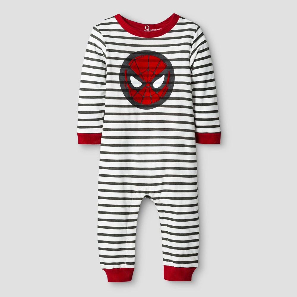 Baby Boys Spider-Man Coverall Red - Disney 3-6 M