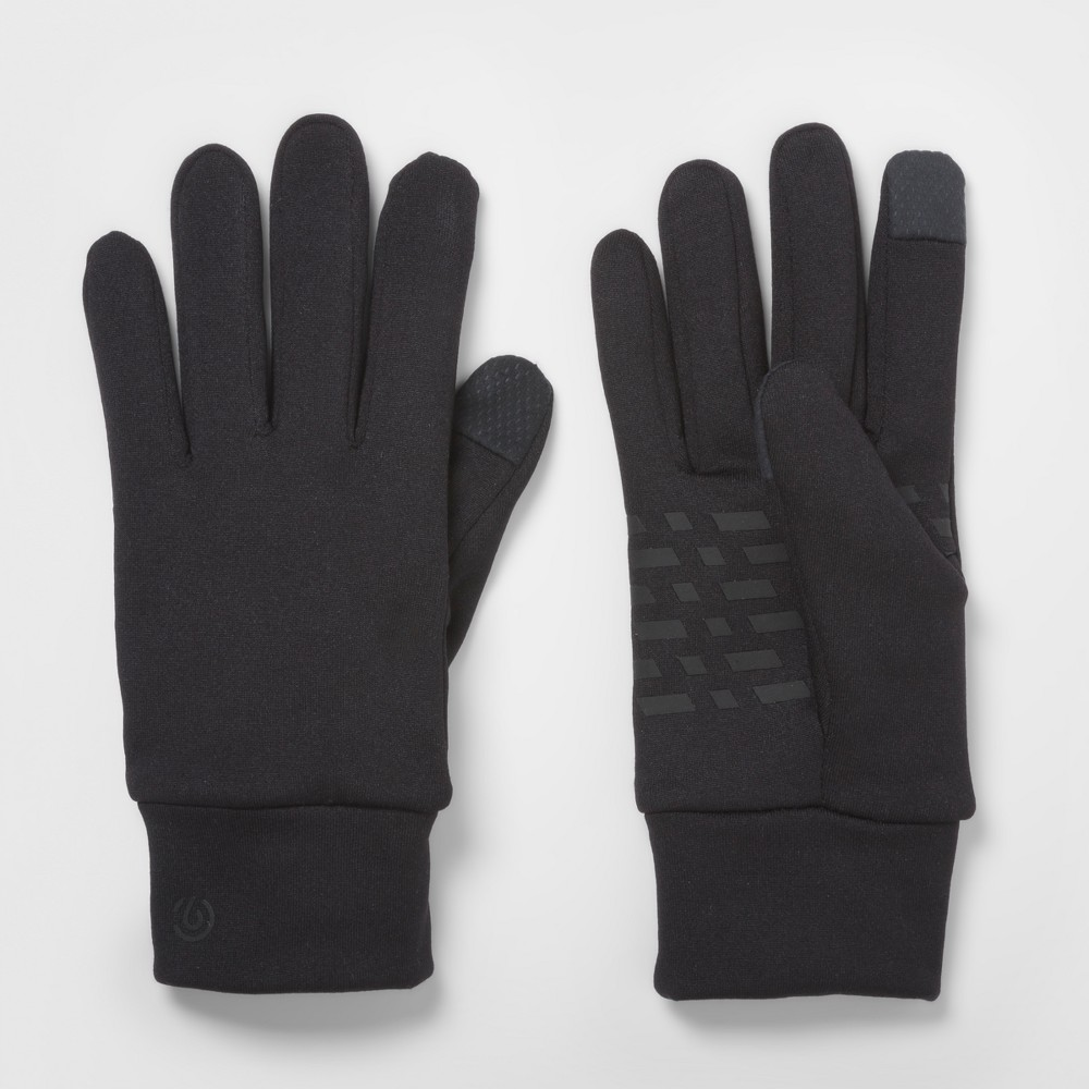 Mens Running Glove Solid Back With New Placed Palm Print - C9 Champion - Black L/XL