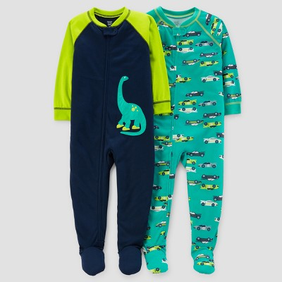 Baby Boys' 2pk Dinos & Cars Pajama Set - Just One You™ Made by Carter's® Teal 9M