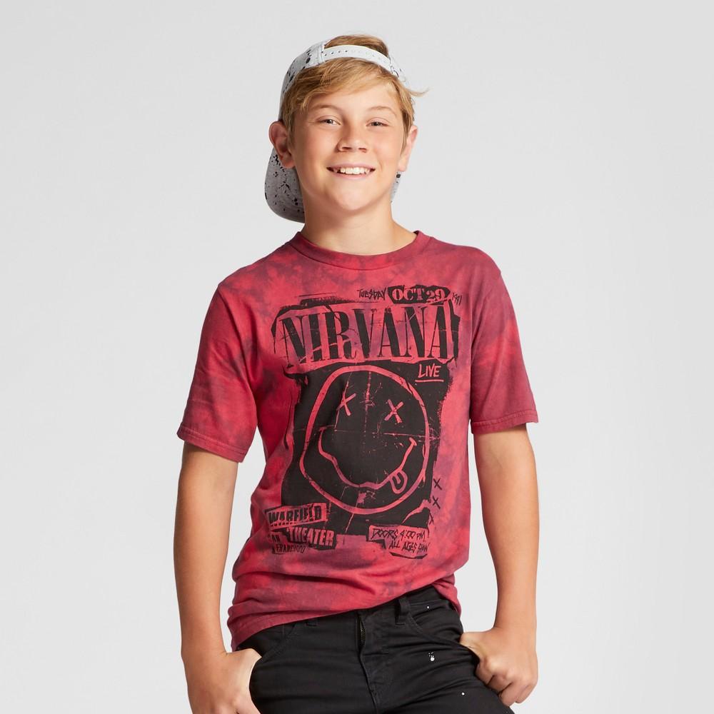 Boys Nirvana T-Shirt Red XL