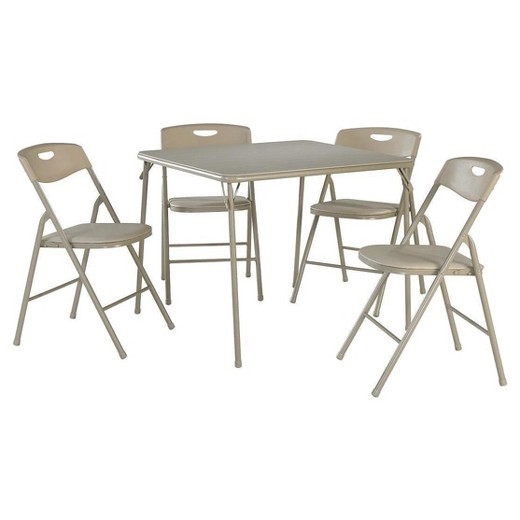 5 piece folding table and chair set cosco target. Black Bedroom Furniture Sets. Home Design Ideas