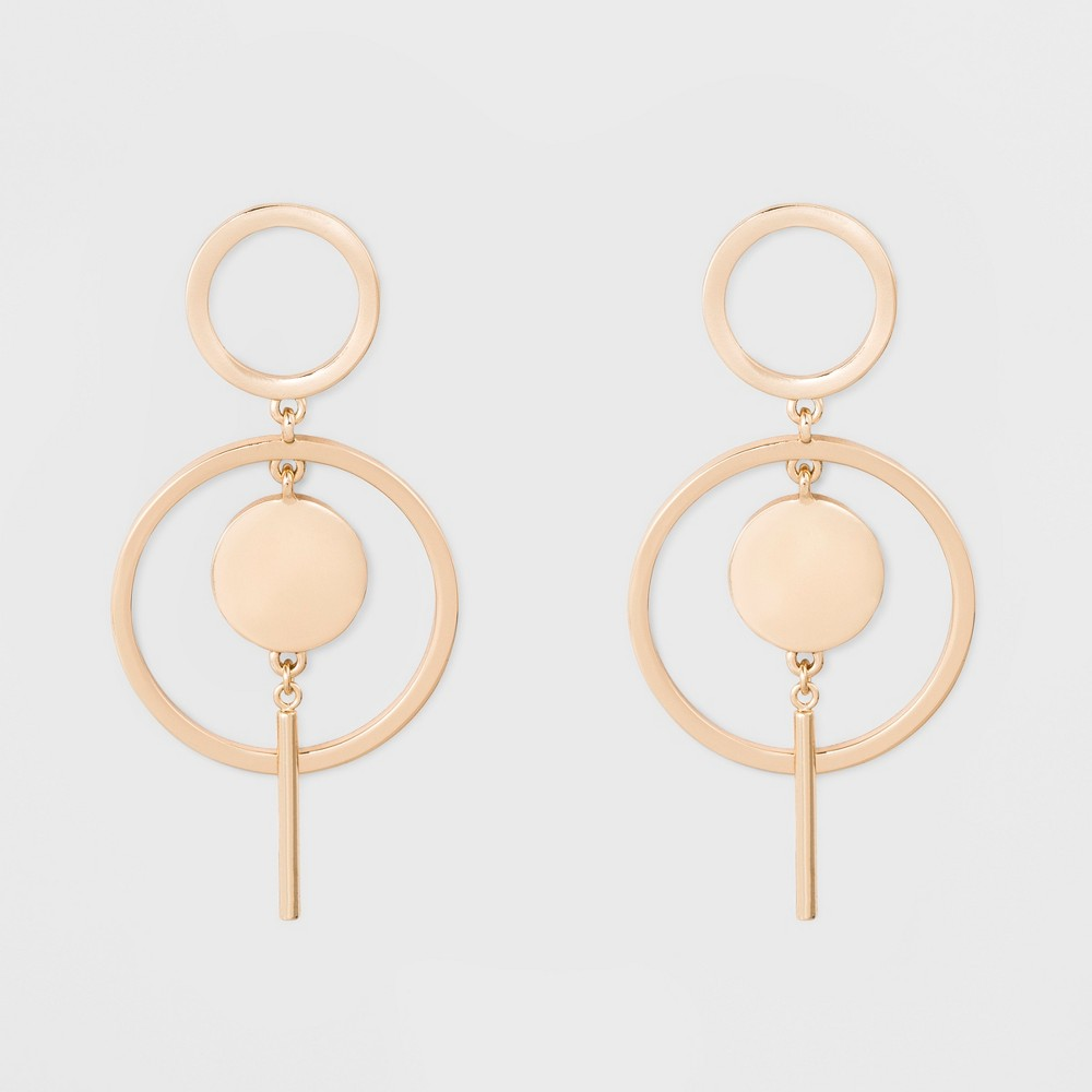 Sugarfix by BaubleBar Modern Hoop Earrings - Gold, Womens