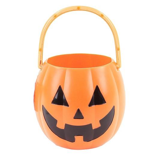 halloween light up pumpkin pail with led lights hyde and eek boutique - Halloween Pumpkin Lights