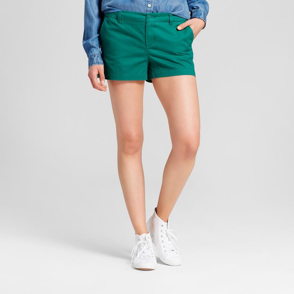 Womens 3 Chino Shorts - Merona Green Reflection 18