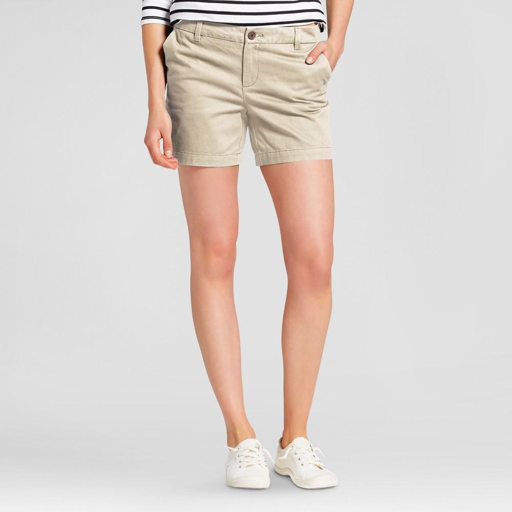 Womens 5 Chino Shorts - Merona Vintage Khaki 6