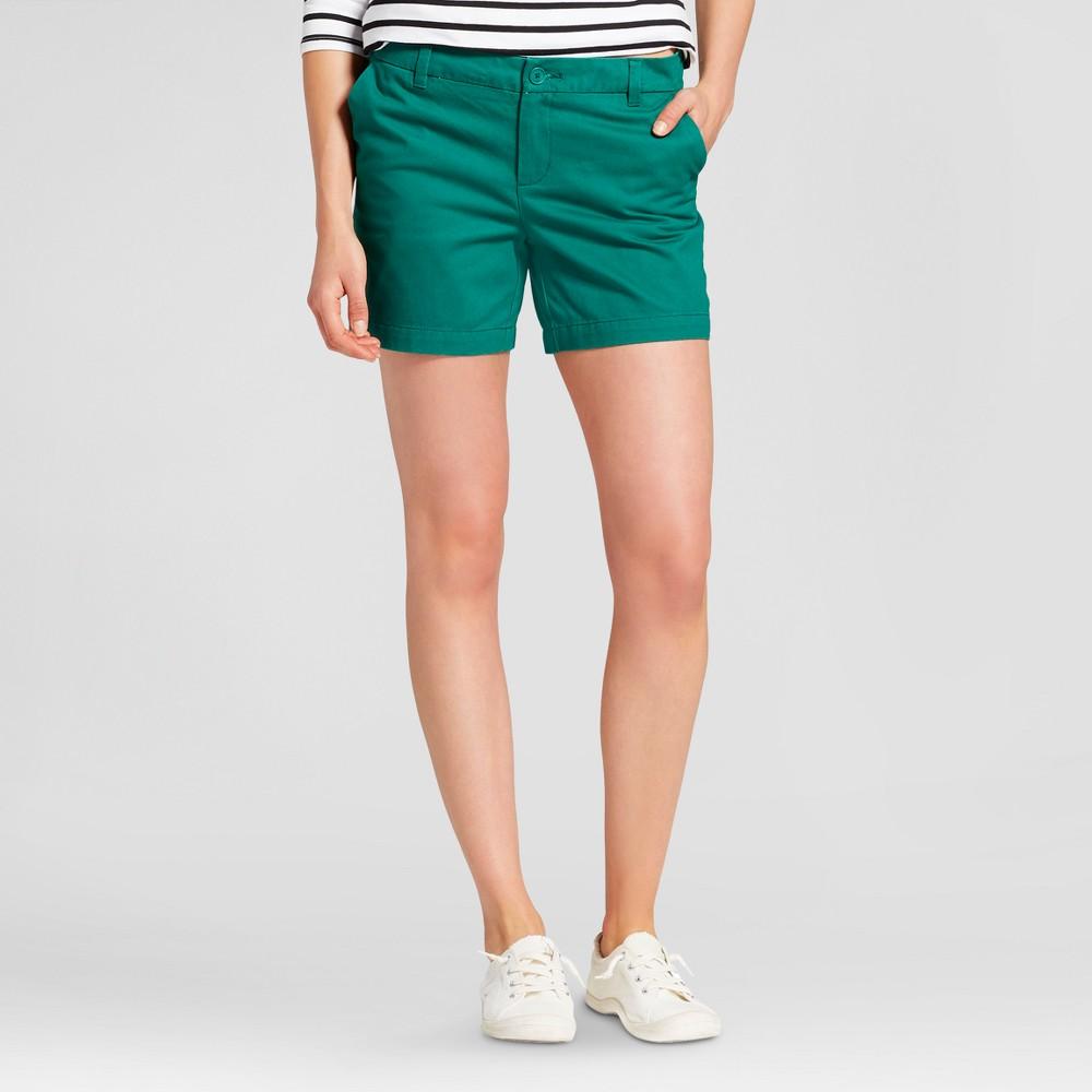Womens 5 Chino Shorts - Merona Green Reflection 16