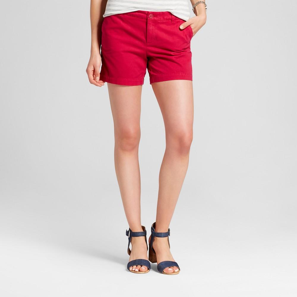 Womens 5 Chino Shorts - Merona Rich Magenta 12