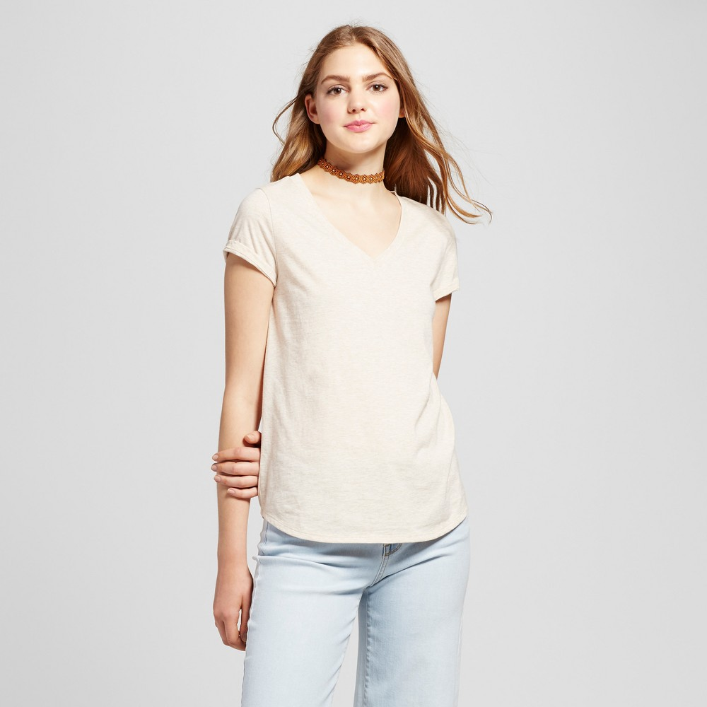 Womens Relaxed Vee T-Shirt - Mossimo Supply Co. Tan L