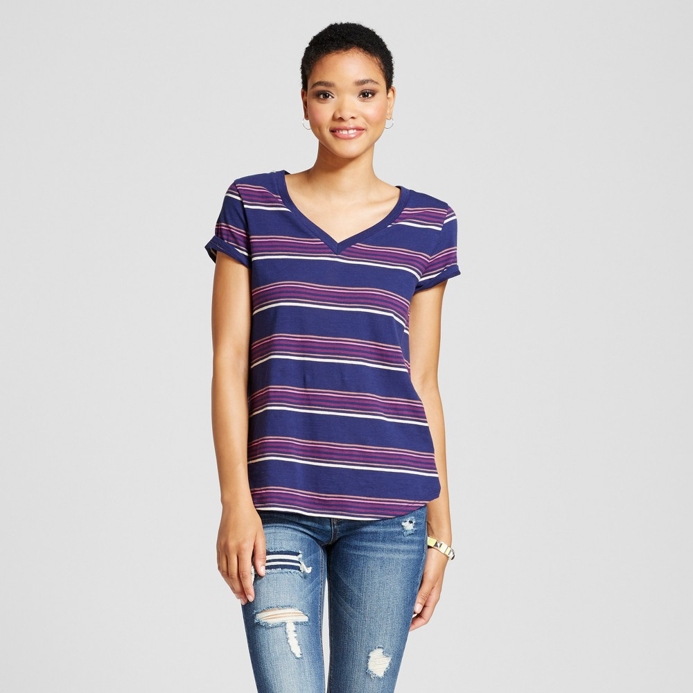 Womens Relaxed Vee T-Shirt - Mossimo Supply Co. Blue XS