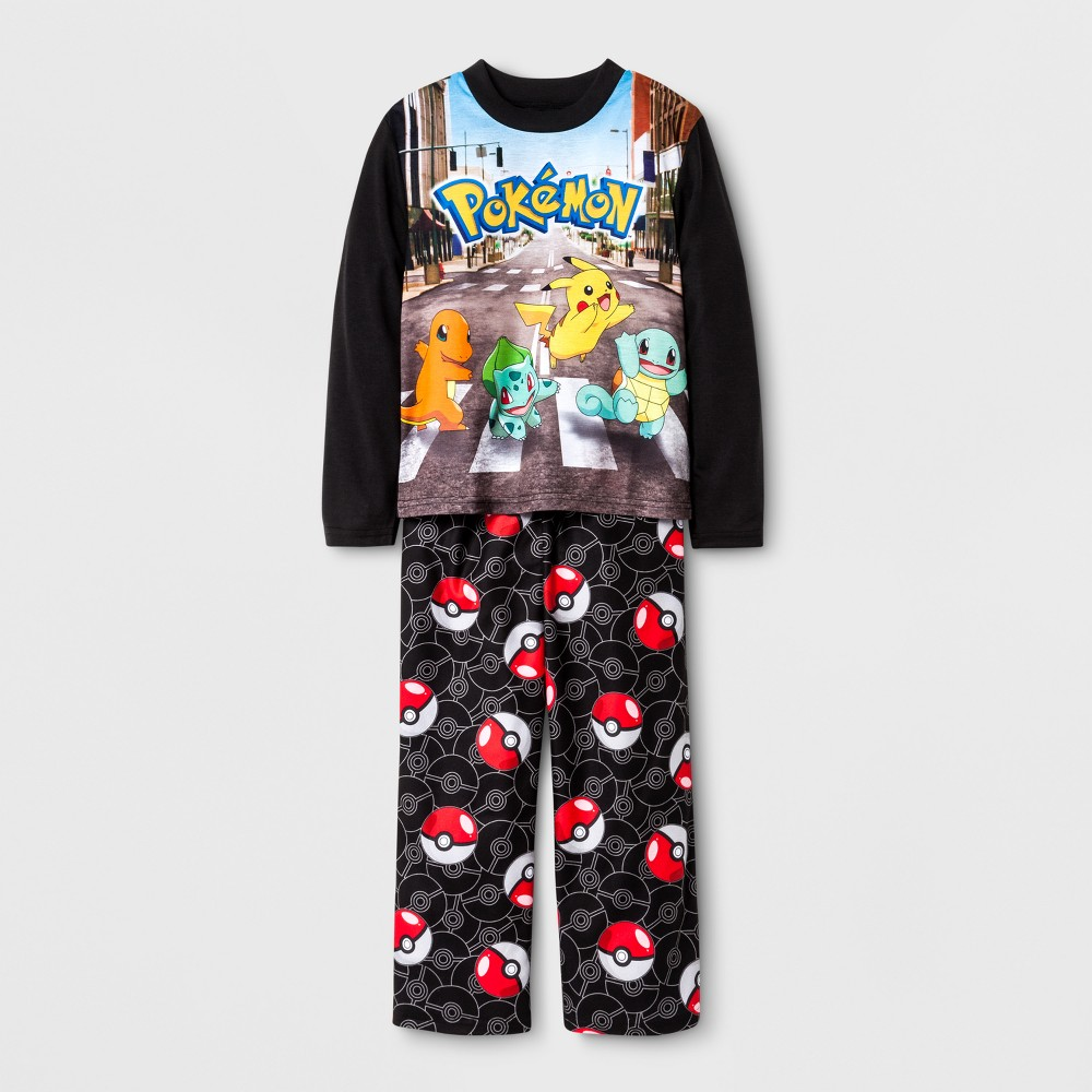 Boys Pokemon 2 Piece Pajama Set - Black 4