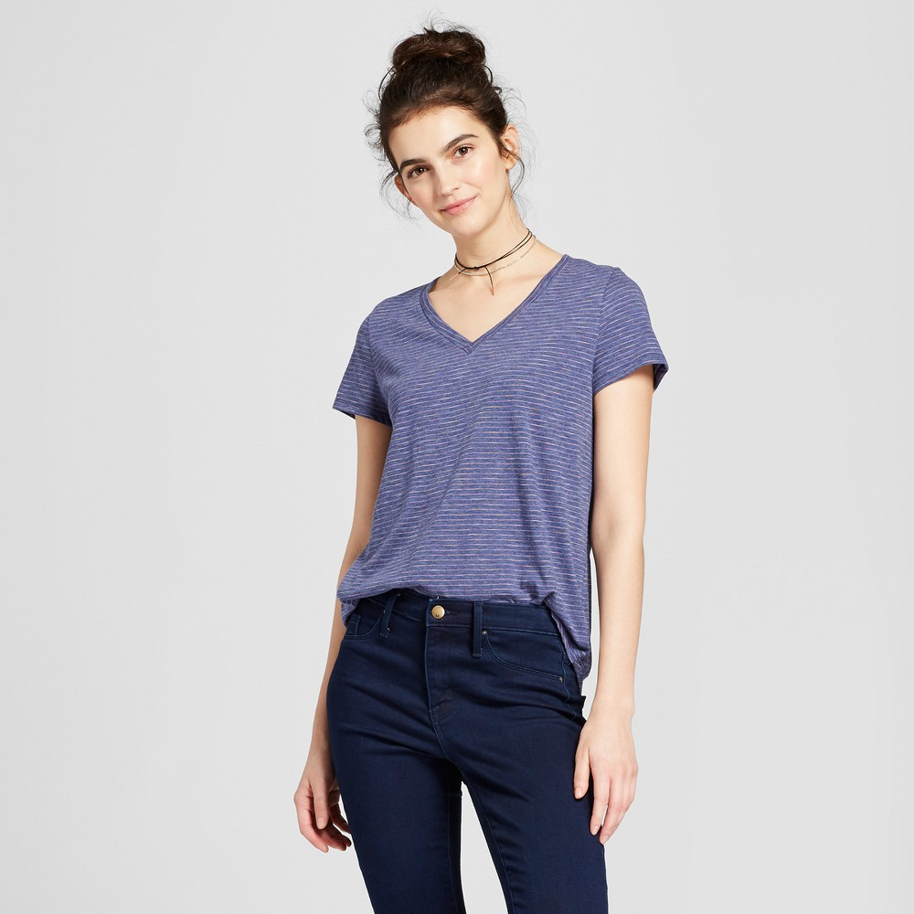 Womens Relaxed Vee T-Shirt - Mossimo Supply Co. Purple XS