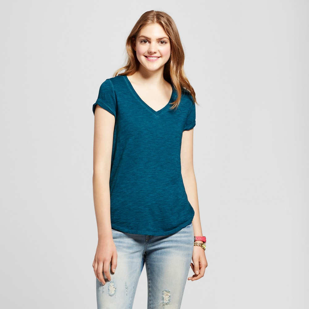 Womens Relaxed Vee T-Shirt - Mossimo Supply Co. Turquoise Xxl