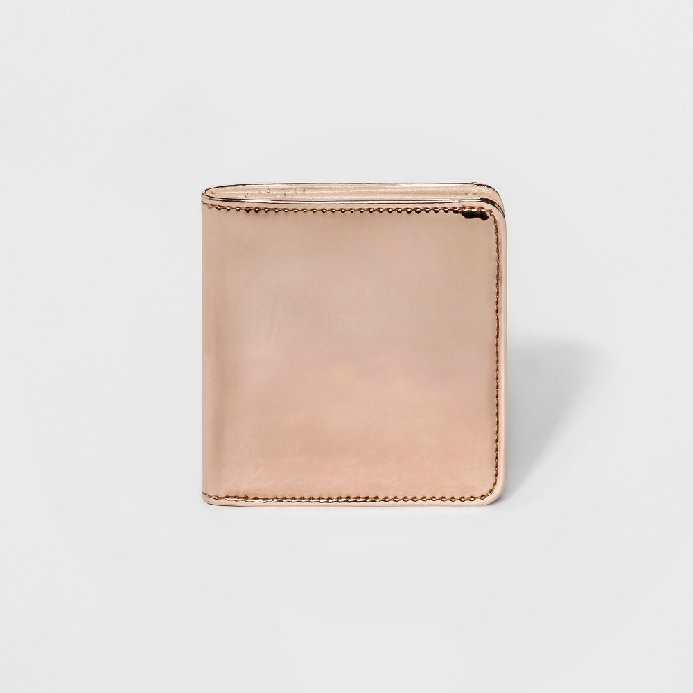 Womens Gold Small Snap-Closure Bifold Wallet - Mossimo Rose Gold