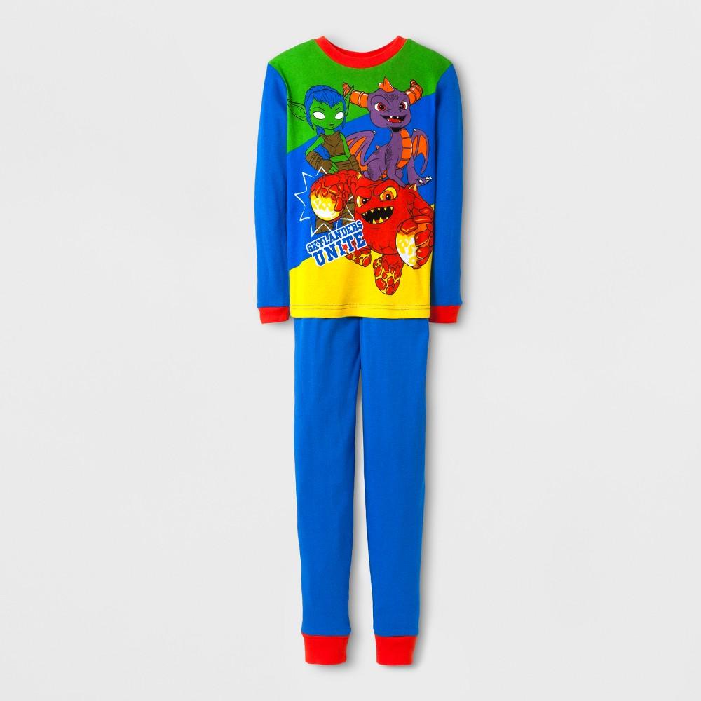 Boys' Skylanders 2 Piece Cotton Pajama Set - Blue 4