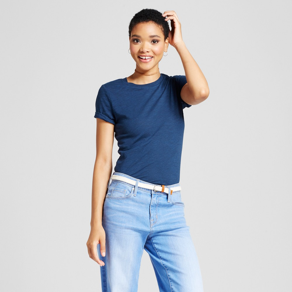 Womens Essential Short Sleeve Crew T-Shirt - Mossimo Supply Co. Navy (Blue) XS