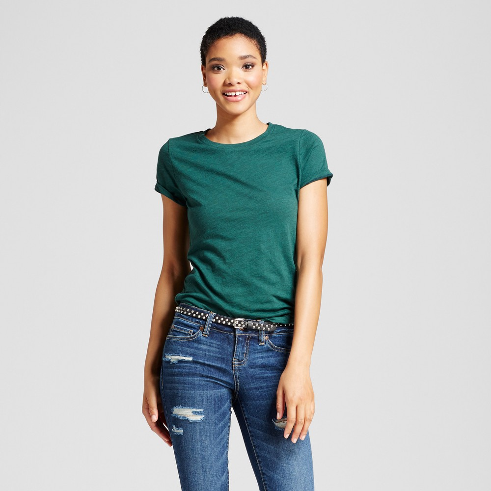 Womens Essential Short Sleeve Crew T-Shirt - Mossimo Supply Co. Green L